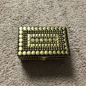 Jewelry - Wooden gold studded jewelry box